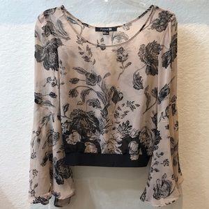 Forever 21 bell sleeve blouse. Size medium.